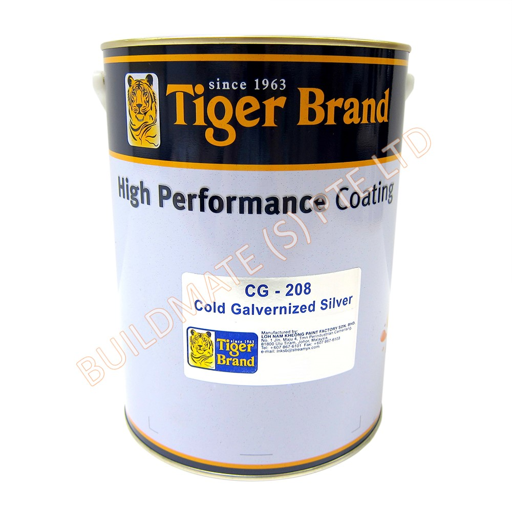 Cold Galvanised Paint Silver Cg 208 Tiger Building